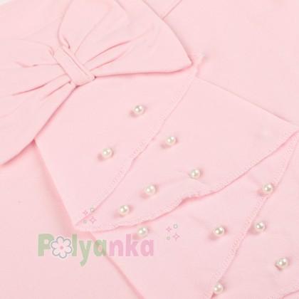 Breeze girls & boys Майка для девочки светло-розовая с бусинами - Картинка 3