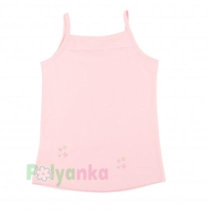 Breeze girls & boys Майка для девочки светло-розовая с бусинами - Картинка 4