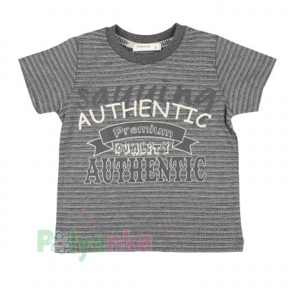 Breeze girls & boys Комплект для мальчика серый шорты с карманами и футболка - Картинка 2