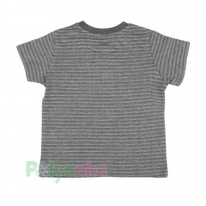 Breeze girls & boys Комплект для мальчика серый шорты с карманами и футболка - Картинка 3
