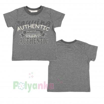 Breeze girls & boys Комплект для мальчика серый шорты с карманами и футболка - Картинка 4