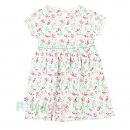 Wanex Платье для девочки белое с розовыми цветами - Картинка 2