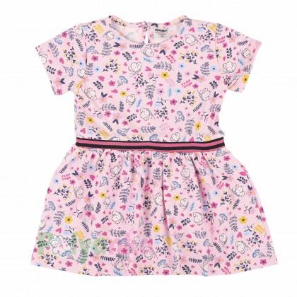 Wanex Платье для девочки розовое в цветочек - Картинка 1