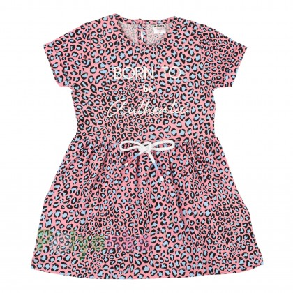Wanex Платье для девочки с леопардовым принтом розовое - Картинка 1