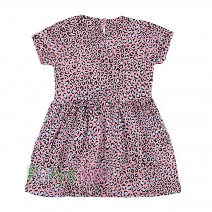 Wanex Платье для девочки с леопардовым принтом розовое - Картинка 2
