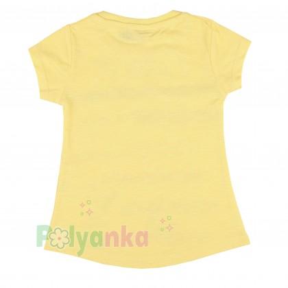 Wanex Футболка для девочки с бабочками жёлтая - Картинка 2