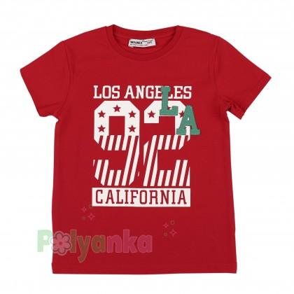 "Wanex Футболка для мальчика ""Los Angeles"" красная - Картинка 1"