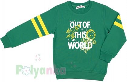 "Wanex Свитшот для мальчика ""Out of this world"" зеленый - Картинка 2"