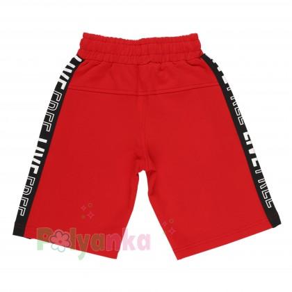 Wanex Комплект для мальчика серая футболка со скейтом и красные шорты - Картинка 5