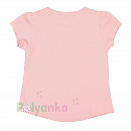 Wanex Футболка детская розовая с белым лебедем - Картинка 3