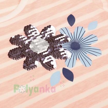 Wanex Футболка для девочки в полоску с завязкой - Картинка 2