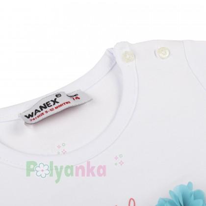 Wanex Футболка детская белая с русалкой - Картинка 2