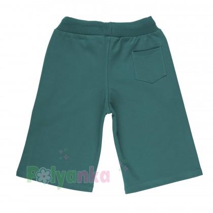 Wanex Шорты для мальчика зеленые с белыми плосками - Картинка 2