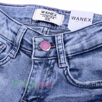 Wanex Шорты джинсовые для девочки голубые с сердечками - Картинка 5