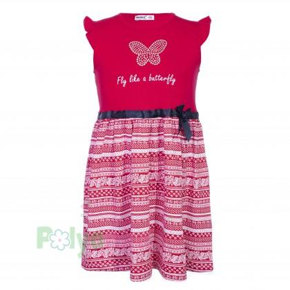 Wanex Платье для девочки красное с бабочкой - Картинка 1