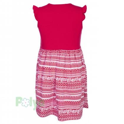 Wanex Платье для девочки красное с бабочкой - Картинка 2