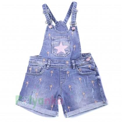 Wanex Комбинезон для девочки синий джинсовый  - Картинка 1