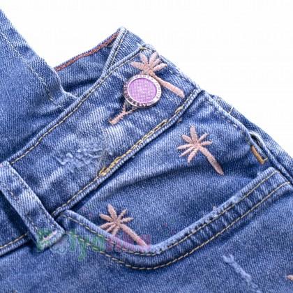 Wanex Комбинезон для девочки синий джинсовый  - Картинка 3