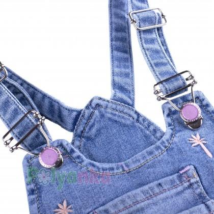 Wanex Комбинезон для девочки синий джинсовый  - Картинка 4