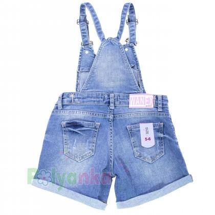 Wanex Комбинезон для девочки синий джинсовый  - Картинка 5