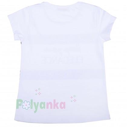 """Wanex Комплект для девочки """"Reep your elegance"""" розовая юбка и белая футболка - Картинка 3"""