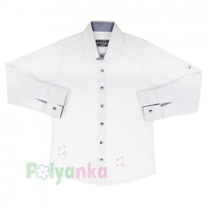 Wanex Рубашка для мальчика белая - Картинка 1
