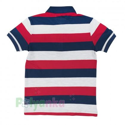 Wanex Футболка поло для мальчика разноцветная в полоску - Картинка 2
