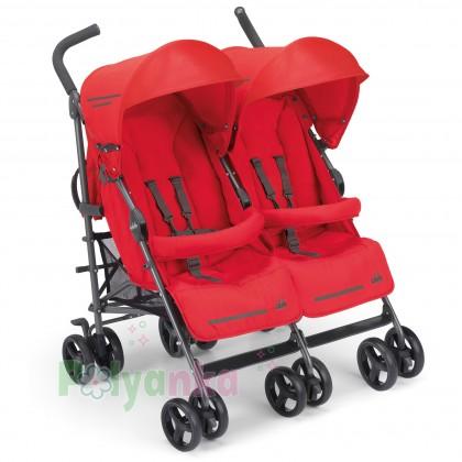 Cam Прогулочная коляска для двойни TWIN FLIP, красная (850/24) - Картинка 1