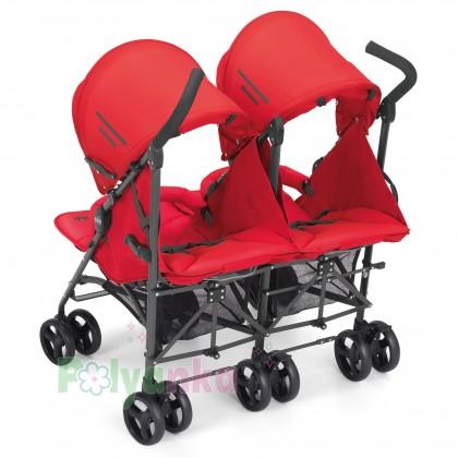 Cam Прогулочная коляска для двойни TWIN FLIP, красная (850/24) - Картинка 2