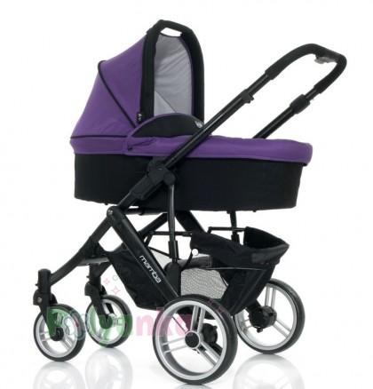 """ABC design Коляска 2 в 1 """"MAMBA"""", Purple-black, чёрный+фиолетовый (61028/208) - Картинка 2"""
