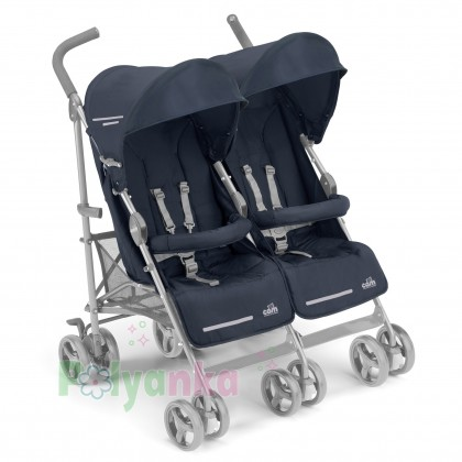 Cam Прогулочная коляска для двойни TWIN FLIP, синяя (850/27) - Картинка 1