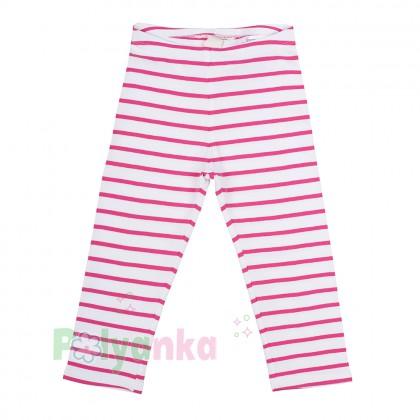 H&M Капри для девочки белые в розовую полоску  - Картинка 1