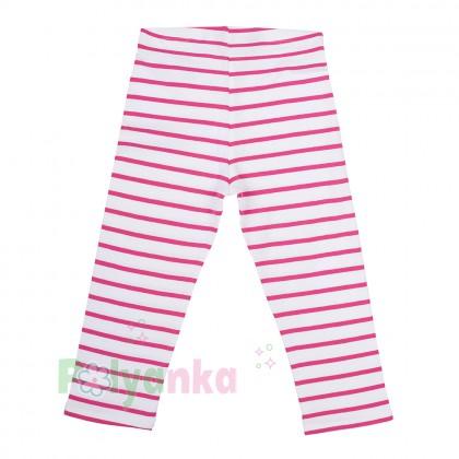 H&M Капри для девочки белые в розовую полоску  - Картинка 2
