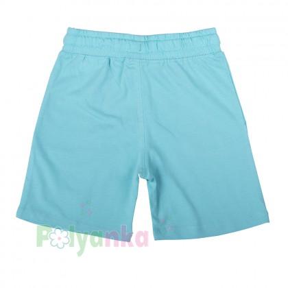H&M Шорты для мальчика голубые с акулой и рыбками - Картинка 2