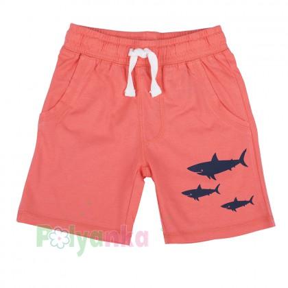 H&M Шорты для мальчика коралловые с акулами  - Картинка 1