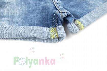 Wanex Шорты детские синие джинсовый с кошкой - Картинка 3