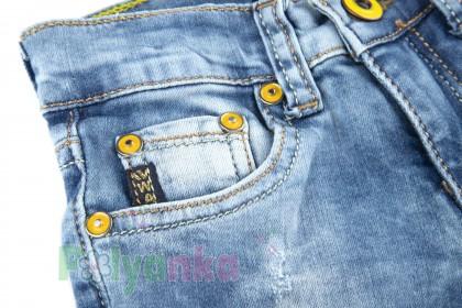 Wanex Шорты детские синие джинсовый с кошкой - Картинка 4