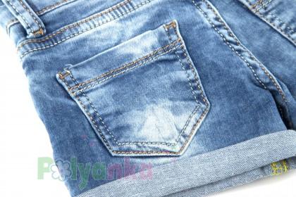 Wanex Шорты детские синие джинсовый с кошкой - Картинка 6