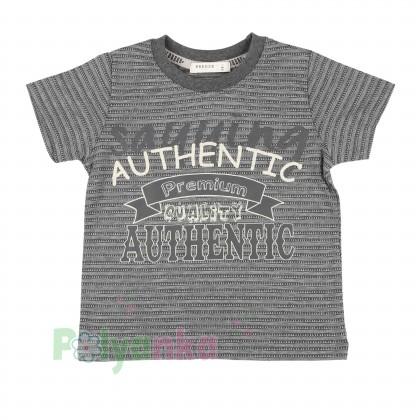 Breeze girls & boys Комплект серый шорты с карманами и футболка - Картинка 2