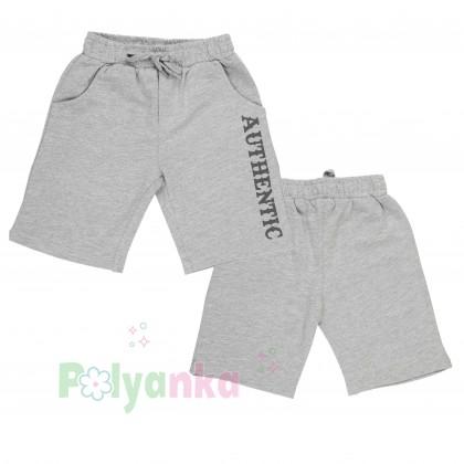 Breeze girls & boys Комплект серый шорты с карманами и футболка - Картинка 4