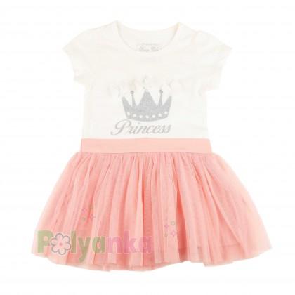 Breeze girls & boys Платье детское с короной и розовой фатиновой юбкой - Картинка 1