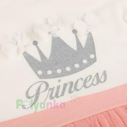 Breeze girls & boys Платье детское с короной и розовой фатиновой юбкой - Картинка 2
