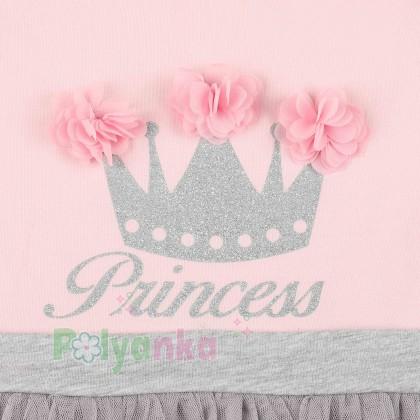 Breeze girls & boys Платье детское с короной и серой фатиновой юбкой - Картинка 3