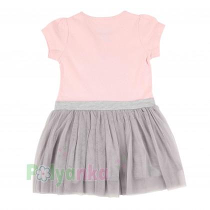 Breeze girls & boys Платье детское с короной и серой фатиновой юбкой - Картинка 5