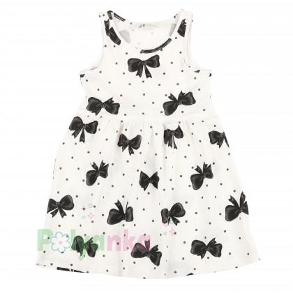 H&M Сарафан детский белый с чёрными бантиками - Картинка 1