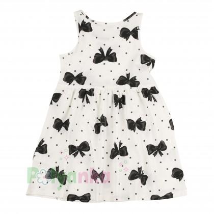 H&M Сарафан детский белый с чёрными бантиками - Картинка 2