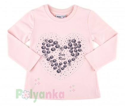 "Wanex Комплект детский ""Sun rise"" темно-синяя юбка и розовый лонгслив с розочками - Картинка 2"