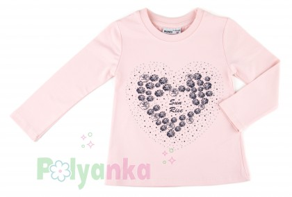 "Wanex Комплект детский ""Sun rise"" темно-синяя юбка и розовый лонгслив с розочками - Картинка 3"