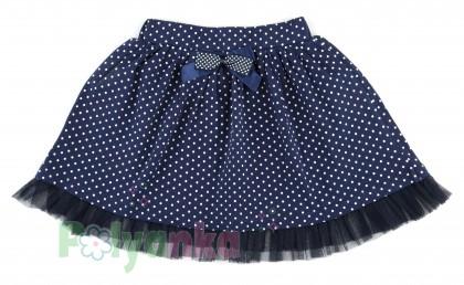 "Wanex Комплект детский ""Sun rise"" темно-синяя юбка и розовый лонгслив с розочками - Картинка 7"