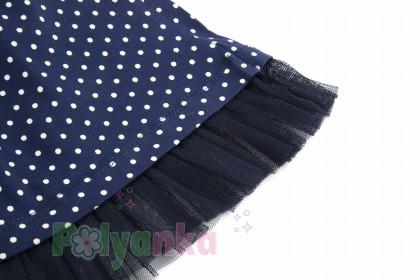 "Wanex Комплект детский ""Sun rise"" темно-синяя юбка и розовый лонгслив с розочками - Картинка 9"